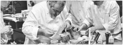 Chef Santi Santamaria in action