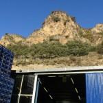 Pineo midden tussen bergen