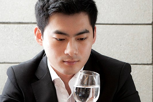 Haneul Kim, water & wine taster from Seoul, is one of the judges at the Water Expo Water Taste competition