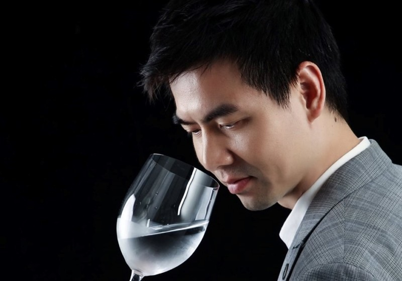 Lee Kwun Wai, Ivan, a Hong Kong water taster, was a judge at Water Expo Water Taste competition in Guangzhou, China