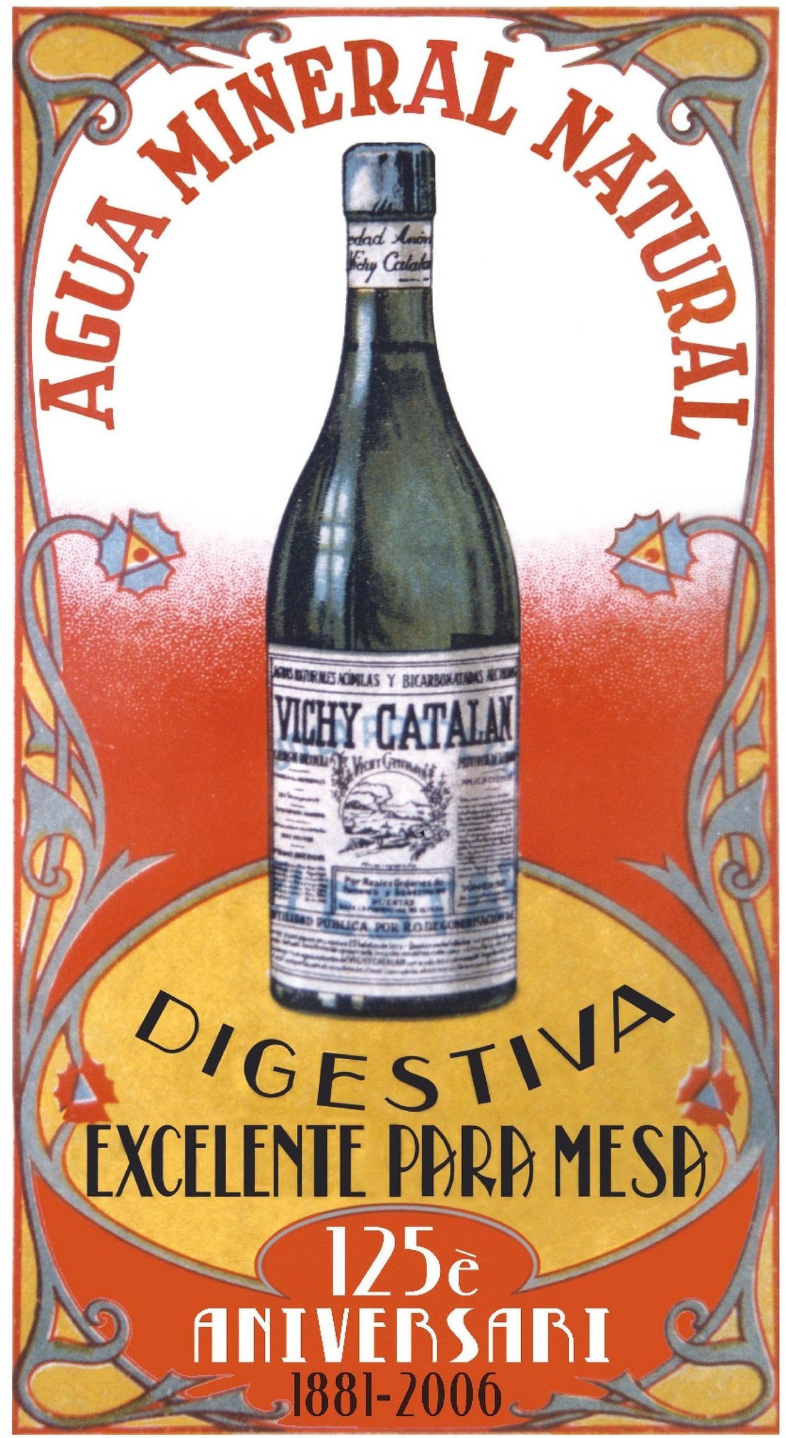La Vichy Catalan a un résidu sec compris entre 2.900 et 3.843 mg/litre