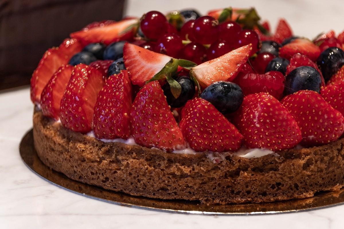 pastissos d'aniversari de la Charlotte, pastís de fruites deliciós