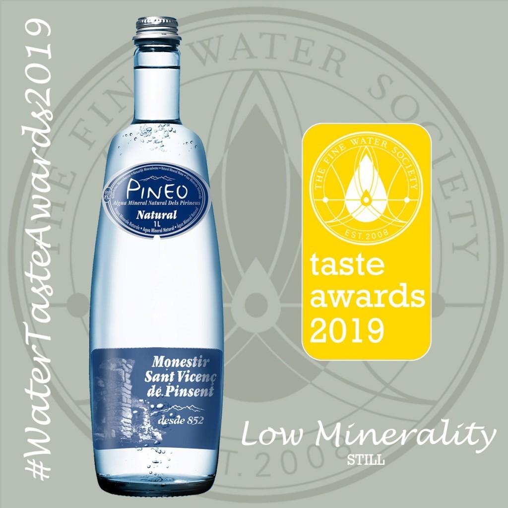 water taste award van Pineo voor lekkerste water